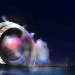 circular architecture, WindWheel, green, circular building, Rotterdam