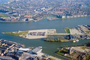 Loodsen op de stadswerven Dordrecht