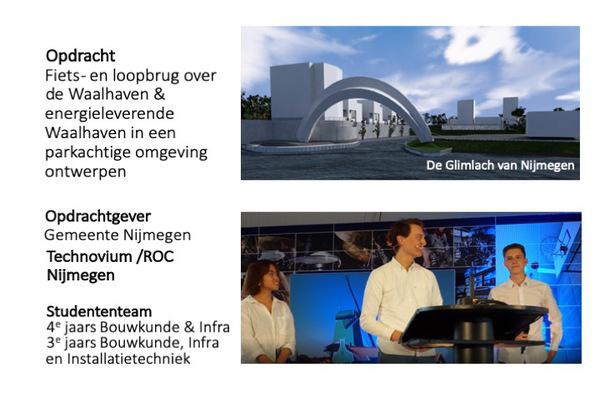 ROC Nijmegen met 'De Glimlach van Nijmegen'